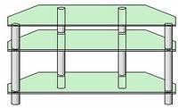 Система для ТВ аппаратуры - 8 (тонированное стекло)