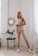 Женский костюм льняной с завязками - разные цвета, фото 2