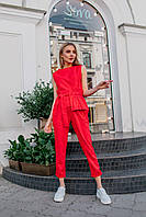 Женский костюм льняной с завязками - разные цвета, фото 6