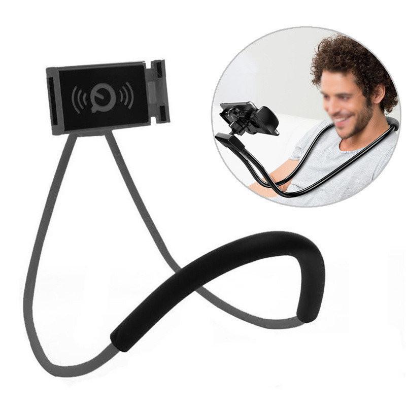 Гнучкий тримач для смартфона універсальний (на шию), Holder Waist Чорний, підставка для телефону