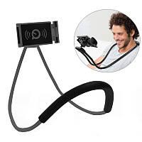 Гнучкий тримач для смартфона універсальний (на шию), Holder Waist Чорний, підставка для телефону, фото 1