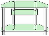 Система для ТВ аппаратуры 9 (прозрачное стекло)