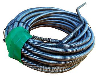 Сантехнический трос крот 16 мм 10 м для чистки канализационных труб, унитазов, стояков, фото 2