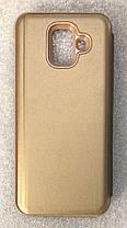 """Чехол книжка """"CLEAR VIEW ..."""" для Samsung Galaxy A6 2018 (A600) gold, фото 2"""