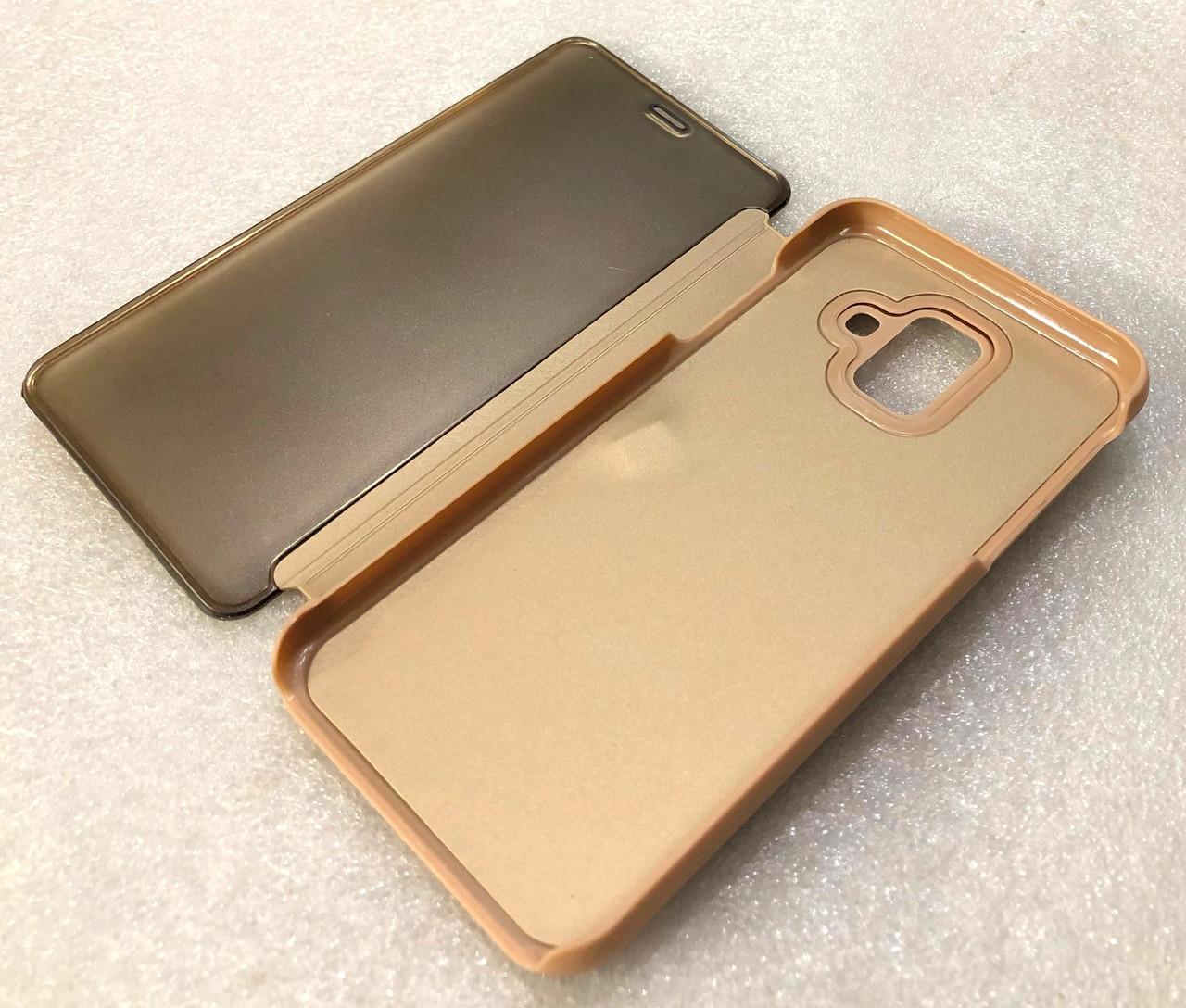 """Чохол книжка """"CLEAR VIEW..."""" для Samsung Galaxy A6 2018 (A600) gold"""