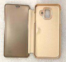 """Чохол книжка """"CLEAR VIEW..."""" для Samsung Galaxy A6 2018 (A600) gold, фото 3"""