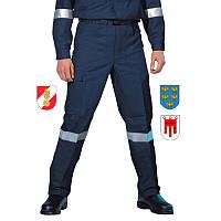 Полевые брюки огнестойкого костюма пожарного Pfeifer ADAS® blau antistat. Австрия, оригинал.