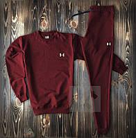 Спортивный костюм мужской в стиле Under Armour burgundy | весенний осенний, фото 1