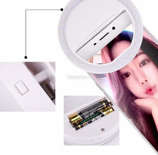 Светодиодное Кольцо вспышка для селфи телефона с подсветкой 3 режима Selfie Ring Light
