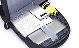 "Городской рюкзак для ноутбука 15.6"" Digital Fred blue, фото 3"