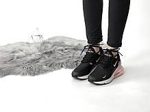 """Кроссовки Nike Air Max 270 """"Черные\Розовые"""", фото 2"""