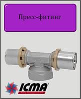 """Тройник 20х1/2""""х20 В  ICMA пресс-фитинг"""