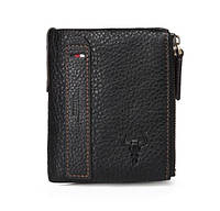 Портмоне гаманець Clan 82010 шкіряний Чорний
