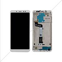 Дисплей + сенсор (модуль) Xiaomi Redmi Note 5 Note 5 Pro белый + рамка оригинал (Китай)