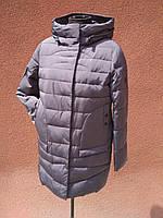 Пуховик жіночий 17-527, бузково-сірий, фото 1