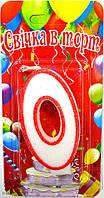 Свеча-цифра для торта Bonita 0 Красный