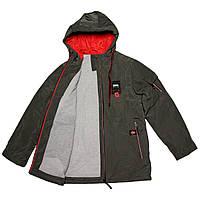 Куртка-парка подростковая демисезонная для мальчика  серая