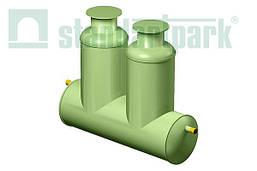 Пескоотделитель, бензомаслоотделитель и сорбционный блок в одном корпусе