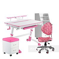 Комплект растущая парта Volare Pink + детское ортопедическое кресло SST5 Pink FunDesk