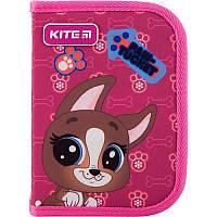 Пенал школьный Kite Littlest Pet Shop PS19-621 для девочки без наполнения 1 отдел, 1 отворот