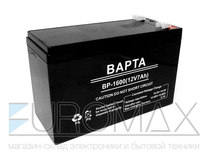 Аккумуляторная батарея BAPTA 12В 7,0Ач 151х65х95 10шт BP-1600