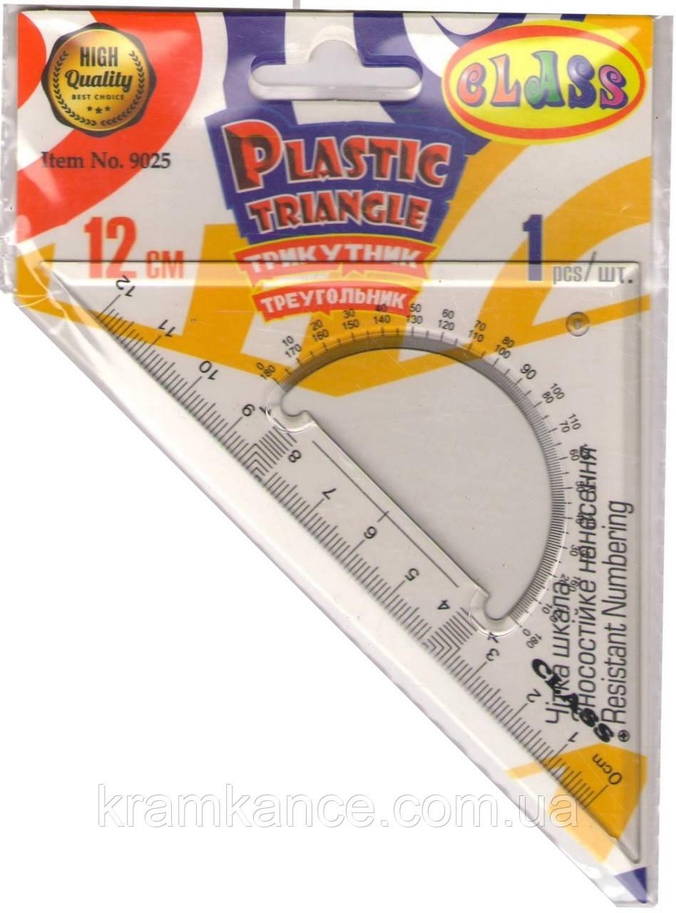 Трикутник 45 град., 12см, Class 9025 (пластик)