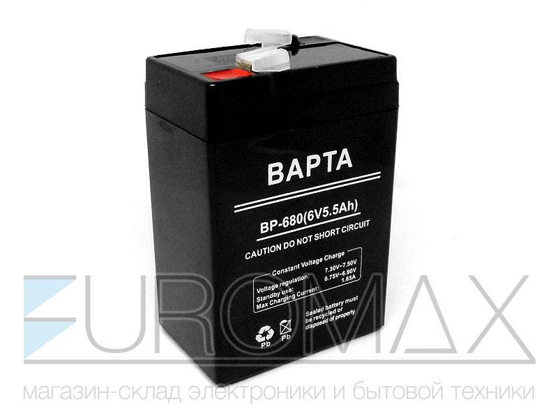Аккумуляторная батарея BAPTA 6В 5,5Ач 70х47х100 20шт BP-680