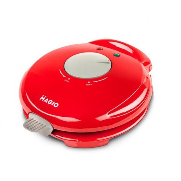 Вафельниця кругла MAGIO МG-396 750 Вт, антипригарне покриття червона