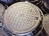Люк тяжелый (С250) с з/у и мех. обр логотип ВОДОКАНАЛ, фото 1