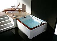 Гидромассажная ванна Golston G-U2607 левосторонняя, 1910x1590x770 мм