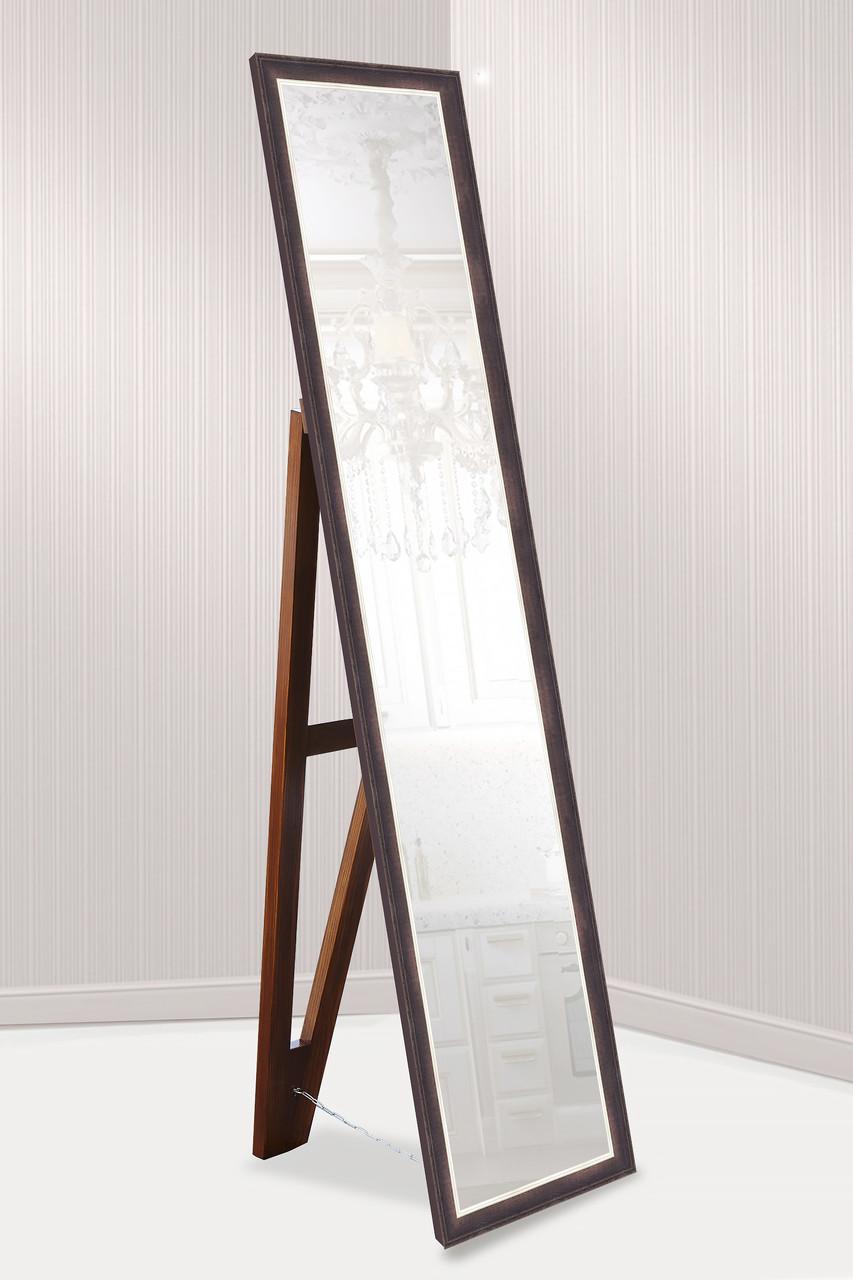 Дзеркало підлогове в рамі Factura з дерев'яною підставкою Dark brown 45х169 коричневий