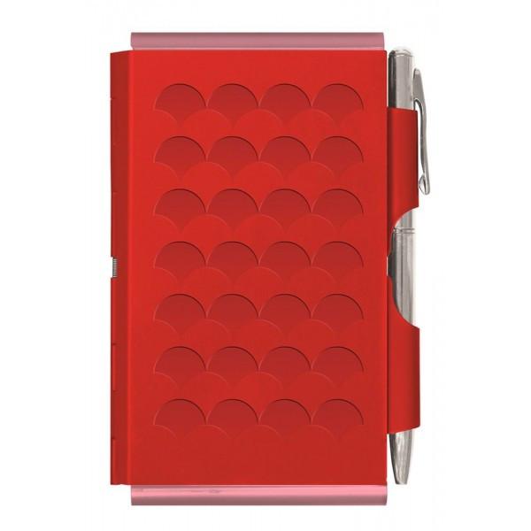 Карманный блокнот с ручкой Diamond, красный
