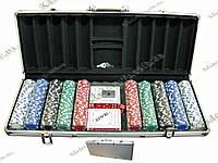 ПОКЕРНИЙ НАБІР В КЕЙСІ (2 КОЛОДИ КАРТ +500 ФІШОК) (59Х25Х9 СМ), фото 1