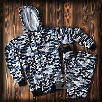 Спортивный костюм мужской камуфляж / Кофта на молнии + штаны | весенний осенний, фото 1