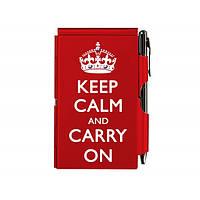 Карманный блокнот с ручкой Keep calm