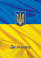 Папка На подпись Флаг А4+ полиграфия синяя