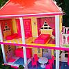 Кукольный домик. Домик для барби на 5 комнат. Двухэтажный кукольный дом с верандой 6980, фото 4