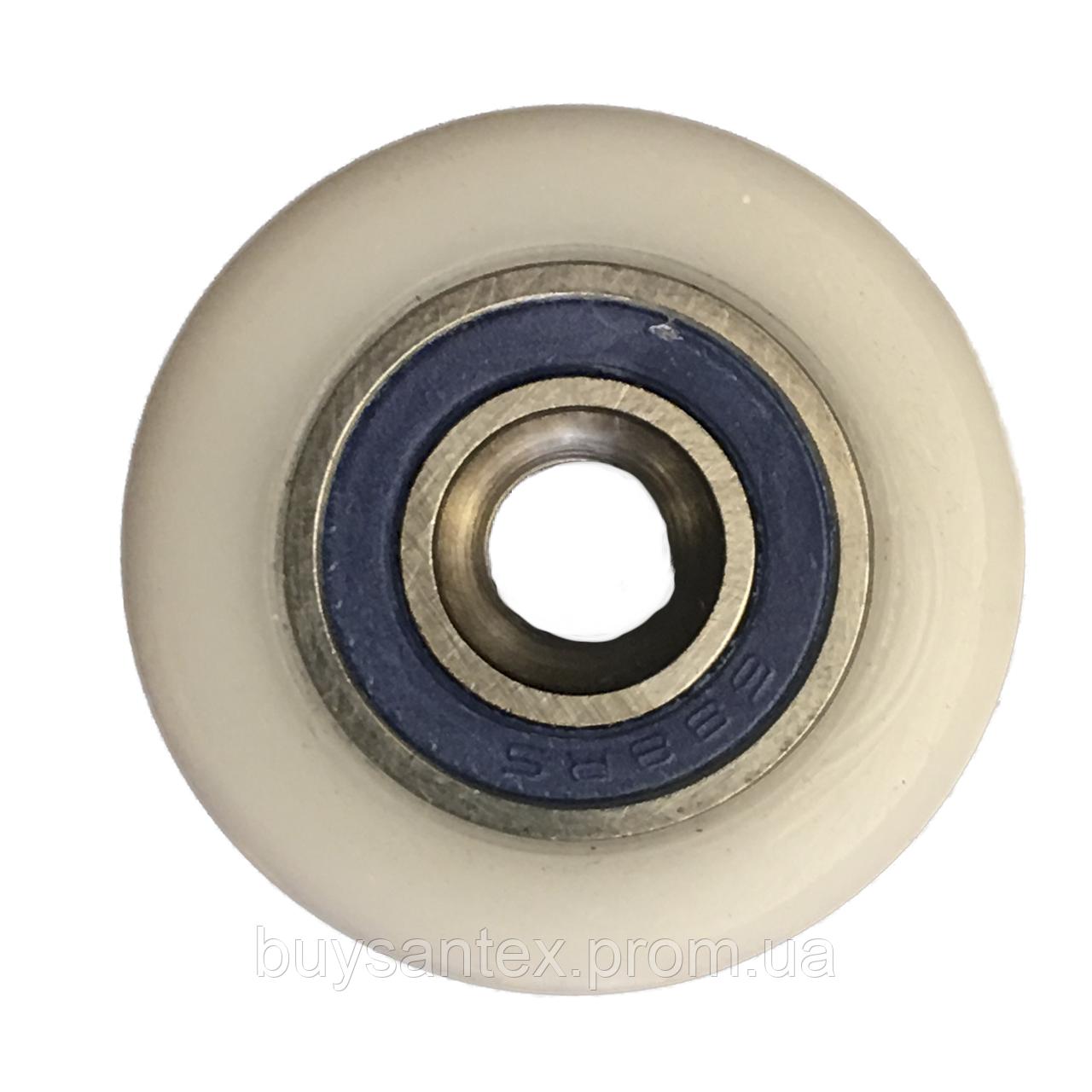 Сменное колесо для роликов душевых кабин, гидромассажных боксов диаметром 27 мм.