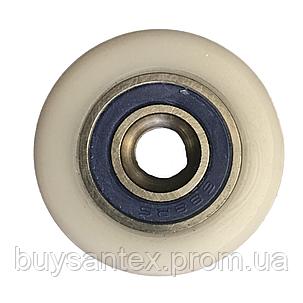 Сменное колесо для роликов душевых кабин, гидромассажных боксов диаметром 27 мм., фото 2