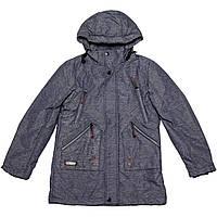 Куртка-парка подростковая демисезонная для мальчика  индиго
