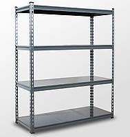 121х81х33, 4 металлических полок 250 кг на полку Стеллаж Unirade крашеный полочный для дома в офис склад архив