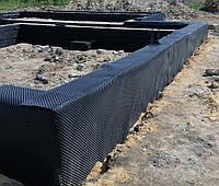 Гидроизоляционная шиповидная мембрана для фундаментов и отмосток, 2 м х 20 м (40 м кв.)