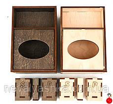 Деревянная Барная Салфетница Органайзер Соль/Перец дерев'яна серветниця из дерева ЛОГО