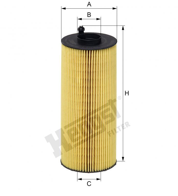 Вкладиш масляного фільтра Hengst E830H D366