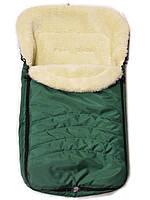 Конверт зимний в коляску и санки Фо кидс зеленый
