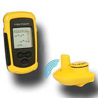 Портативный беспроводный сонар (эхолот, рыболокатор) для поиска рыбы (модель FFW-1108-1)