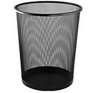 Корзина офисная MF08225-1 для бумаги, металл сетка 26,5х27,5см черная