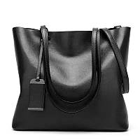 Большая сумка - шоппер женская модная черная