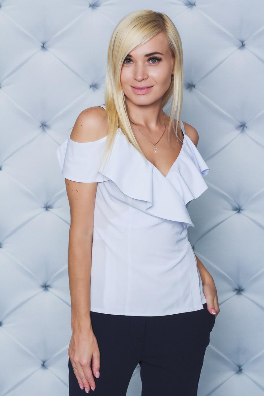 Блуза женская на запах белая