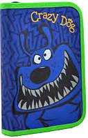 Пенал 1 Вересня 531867 Crazy dog школьный для мальчика одинарный без наполнения